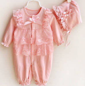 Wholesale online shopping india: Peach Baby Girls Romper Suit