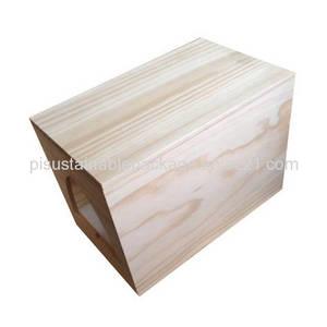 Wholesale wooden wine box: Custom Made Unfinished Plain Wooden Wine Box