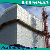 Wholesale car shade canopy: UV Stabilized  Construction Scaffolding Building Safety Sheet PE Debris Cover