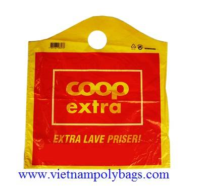 plastic bag: Sell Plastic Wave Top Carry Bags