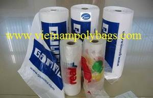 Wholesale t: Vietnam Packaging Grocery T-shirt Bags On Roll