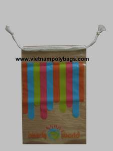 Wholesale bag: Vietnam Packaging Poly Drawstring Bags with Cotton Rope Handle