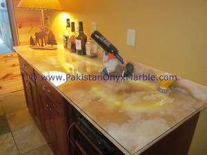 Wholesale Countertops, Vanity Tops & Table Tops: Backlit Onyx Countertops for Bar Receptions