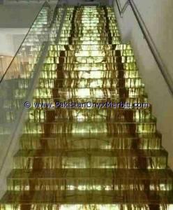 Wholesale border mosaic: Backlit Onyx Stairs Steps Risers & Balustrade