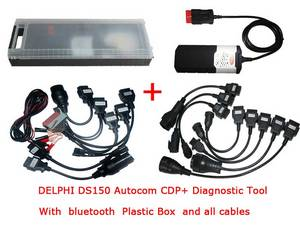 Wholesale diagnostic tools: 2014.03 DS150 CDP+ Diagnostic Tool for Cars/Trucks with Bluetooth Plastic Box All Cables