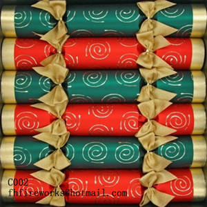 Wholesale traditional cracker: C002 Traditional Swirls Christmas Crackers