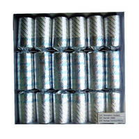 C009 Elegance Silver Christmas Crackers