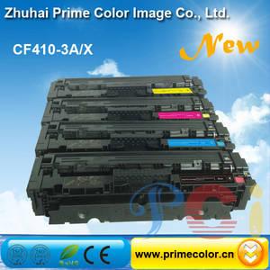 Wholesale color toner: Color Toner Cartridge for HP CF410A CF411A CF412A CF413A with Chip