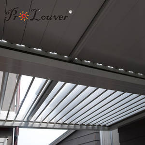 Wholesale rhs steel sizes: Pergola Opening Roof Louver