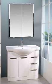 Wholesale mirror cabinet: Free Standing Bathroom Vanity with Mirror Cabinet&Basin