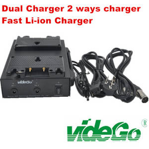 Wholesale li ion: Vidego Hdy Battery Chargers Dual Li-ion Quick Charger Broadcast Camera Battery Charger V Mount Plate