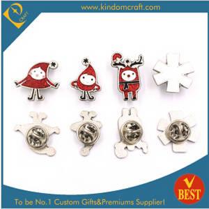 Wholesale woven badges: Supply Custom Xmas Lapel PIN, Festival Badge