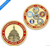 OEM Customized Police/Challenge/Souvenir/Award/Commemorate Gold Coin