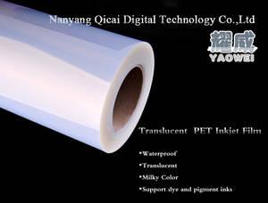Wholesale silk screen printer: 100microns Waterproof Transparent PET Inkjet Film for Silk Screen Printing