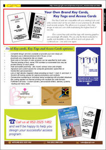 Wholesale security system: Hotel Key Card