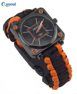 Wholesale Shoelaces: Paracord Survival Gear Watch Square Watches