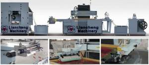 Wholesale silk screen printer: LC-4070J/60100J Non-woven Label Sticker Fully Automatic Roll To Roll Silk Screen Printer