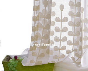 Wholesale curtain panels: Cotton Embroidery Voile Curtains Fabrics Panel for Home Decoration