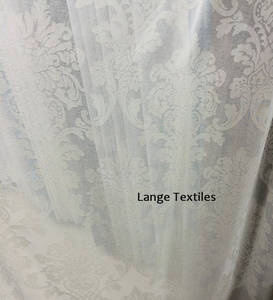 Wholesale window curtain: High Quality Burnout  Voile Curtains Fabrics Ready Made Curtains for Window