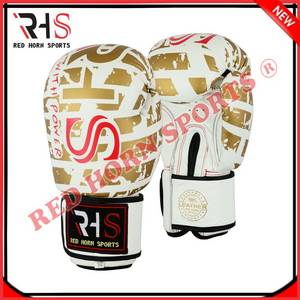 Wholesale leather glove: RHS Top Quality Cowhide Leather Custom Boxing Gloves