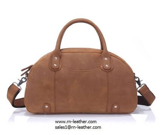 air gun: Sell Oem factory price crazy horse leather shoulder weekend bag