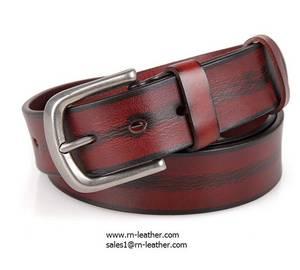Wholesale fashion belt: 2017 Fashionable Design Casual Belt Vintage Red Color Real Leather Waist Belt for Men
