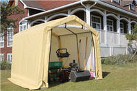 Weatherfast Mid Shed with PE Fabric Cover 8'X8'X7' Ideal for Purpose Storage in Outdoor Spaces
