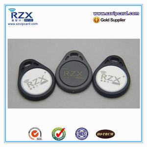 Wholesale square rfid reader: Fashionable Waterproof Logo Printed Access Control Rfid Key Fob Nfc Token Key Ring in Shenzhen