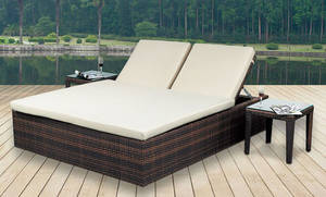 Wholesale lounge: Poly Rattan Garden Outdoor Living Furniture Relaxed Lounge