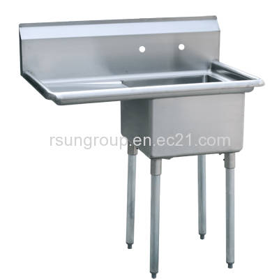 one compartment stainless steel commercial kitchen sink