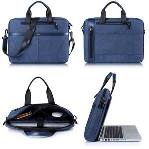 Wholesale foam pad: 14.6 / 15.6 Inch Fashion Laptop Sleeve PU+Polyester Cases Laptop Bags with Thicken Foam Padded
