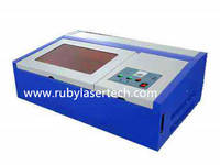 3020 40W CO2 Laser Engraving Machine Laser Stamp Cutter, Mini 40W 2030 CNC Laser Carving Machine