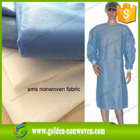60gsm Blue Hospital Bed Cover Gown Nonwoven Fabric Material & Waterproof Bed Cover Gown Cap Fabric