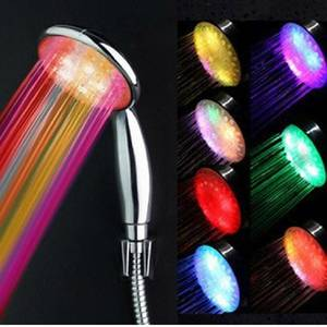 Wholesale shower heads: New Arrival Bathroom LED Light Shower Head 7Color LED Romantic Light Shower Head