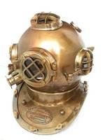 Brown Antique US Navy Diving Helmet Mark V+ 2