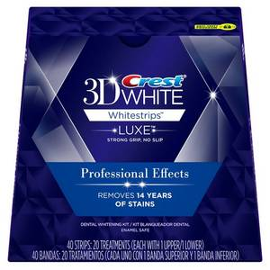 Wholesale whitening effect: Crest 3D White Luxe Whitestrips Professional Effects - Teeth Whitening Kit 20 Treatments