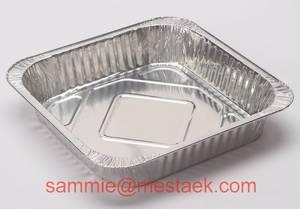 Wholesale Food Packaging: Square  Aluminium Foil Container Large Capacity
