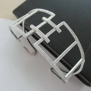 Wholesale bangles: S.D.F- 2016 Wholesale S925 Silver Cz Cuff Bangle