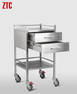 Wholesale mobile hospital: Medical Treatment Cart,Mobile Hospital Treatment Cart with Drawer,Metal Medicine Drug Cart RCS-H0Z30