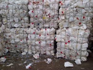 Wholesale hdpe milk bottle scrap: HDPE Milk Bottle Baled Scrap