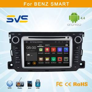Wholesale dvd loader: 7 Inch Capacitive Touch Screen Android 4.4 Car DVD for Benz Smart Car Radio DVD GPS Navigation Syste