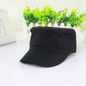 Wholesale army hat: 2015 New Black Plain Navy Army Cap Flat Top Cap Custom Military Hat