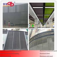 Metal Aluminum Mesh Curtain Wall Facade Screen for Decoration