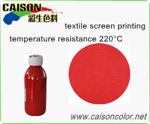 pigment red: Sell Red pigment paste for fabric printing with high temperature resistance
