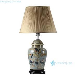 Wholesale pot stand: DS44-RYPU New Design Floral Pattern Vintage Ginger Jar Lamps