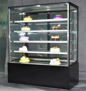 Wholesale glass cabinet: Square Glass Cake Display Cabinet Cake Showcase