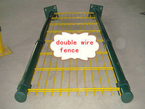 Wholesale raw bolt: Double Wires Fence Gate