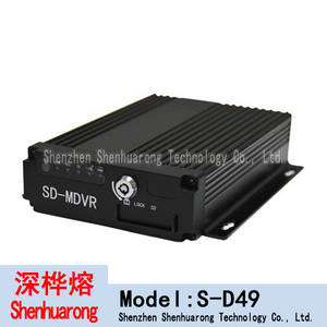 Wholesale digital video recorder: S-D49 Car DVR 4 Channel Stand Alone 4CH H.264 Real-Time DVR Security Digital Video Recorder for CCTV