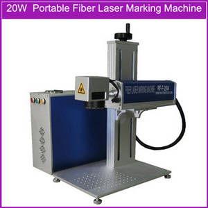 Wholesale i beam standard size in mm.: 20W Desktop Mini Fiber Laser Marking Machine Price for Metal Materials