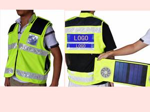 Wholesale Bullet Proof Vest: Solar Energy Product Safety Vest with Solar Panels and Fans S05b-00